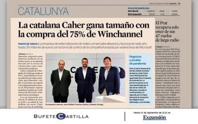Bufete Castilla, assessora a CAHER en l'Adquisició del 75% del capital social de WINCHANNEL | Diari Expansión 15/09/2020