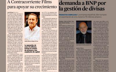 """BUFETE CASTILLA asesora de SUMA CAPITAL en la toma del 40% de """"A CONTRACORRIENTE FILMS""""  Diario Expansión 15/06/2021"""